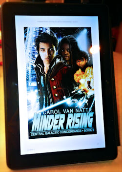 Minder Rising on an ebook reader