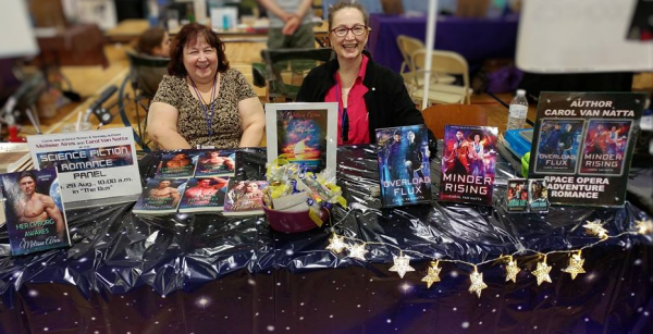 Carol Van Natta and Melisse Aires at Fort Collins Comic Con