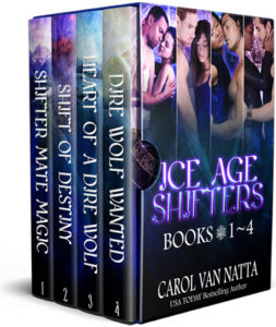 Photo of a box set of the Ice Age Shifters books at all booksellers