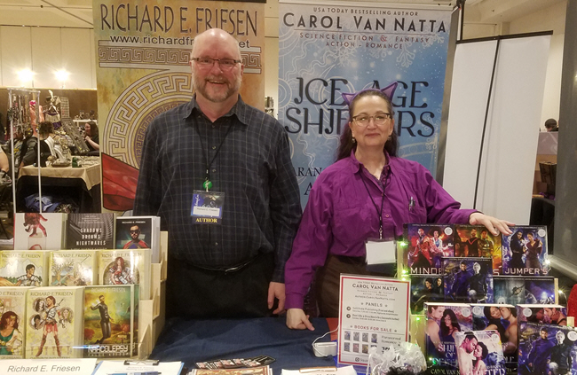 things I learned at Whimsy Con - it's good to share a table with a compatible author