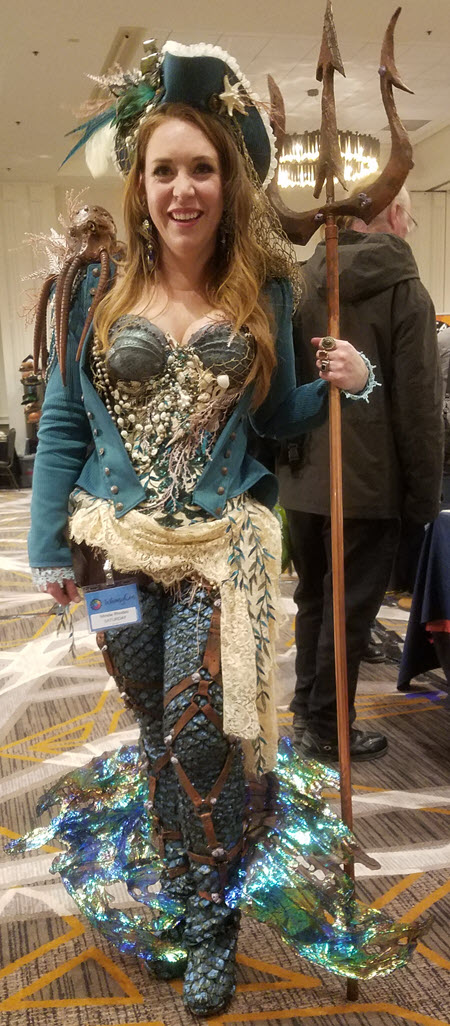 things I learned at Whimsy Con - steampunk pirate woman with trident