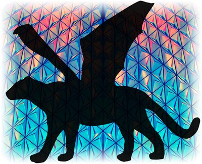 Cats of War Excerpt #3 - silhouette of a winged cat