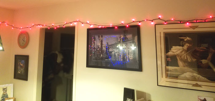 geeky fairy light addiction - photo of room decorated with lights