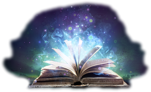 Open book with magical swirls emanating from the pages - Real Life Events Become Magical Secrets
