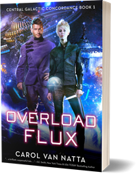photo of the paperback book version of Overload Flux