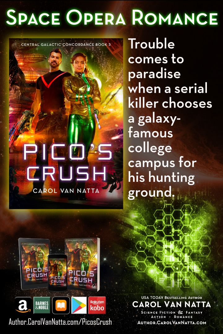 Pico's Crush is space opera, adventure, and double romance