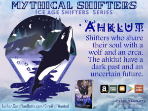 About mythical ahklut, shifters in the Ice Age Shifters series