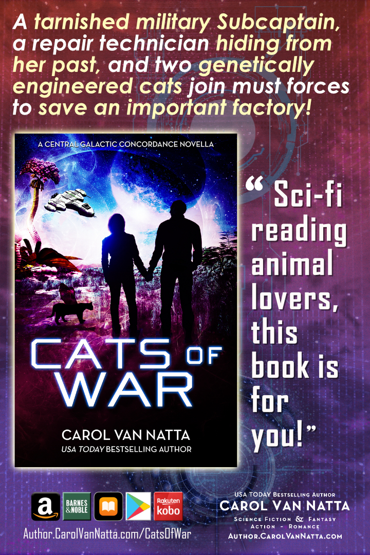 Cats of War is space opera romance plus superior cats
