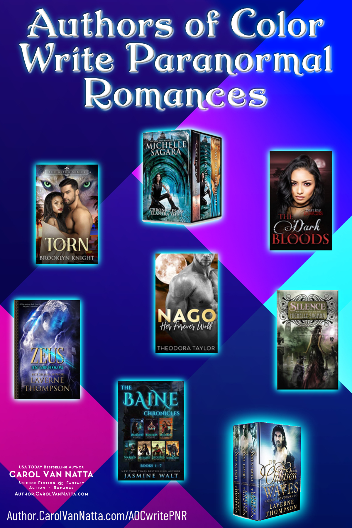 Paranormal Romances by Authors of Color