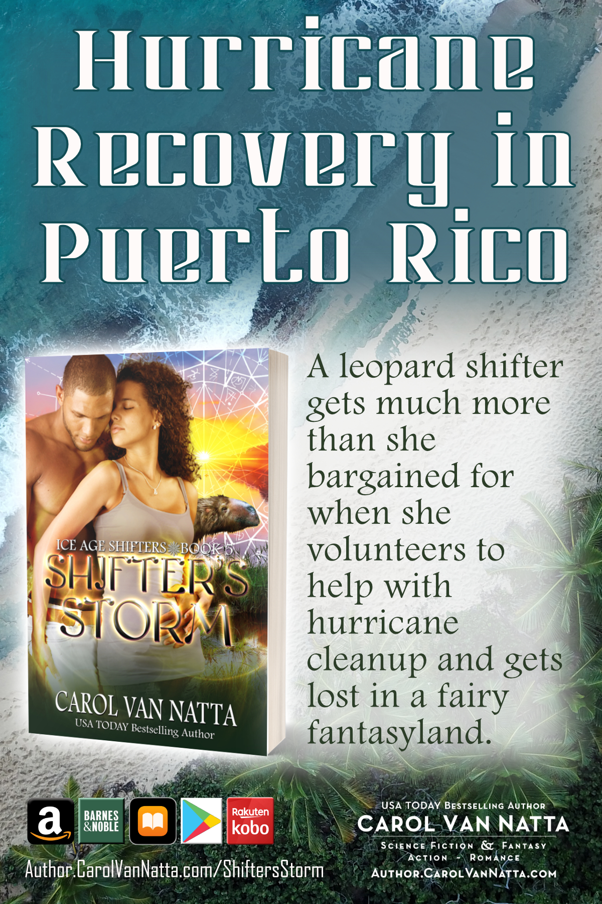 Hurricane Recovery in Puerto Rico - the setting for SHIFTERS STORM paranormal romance