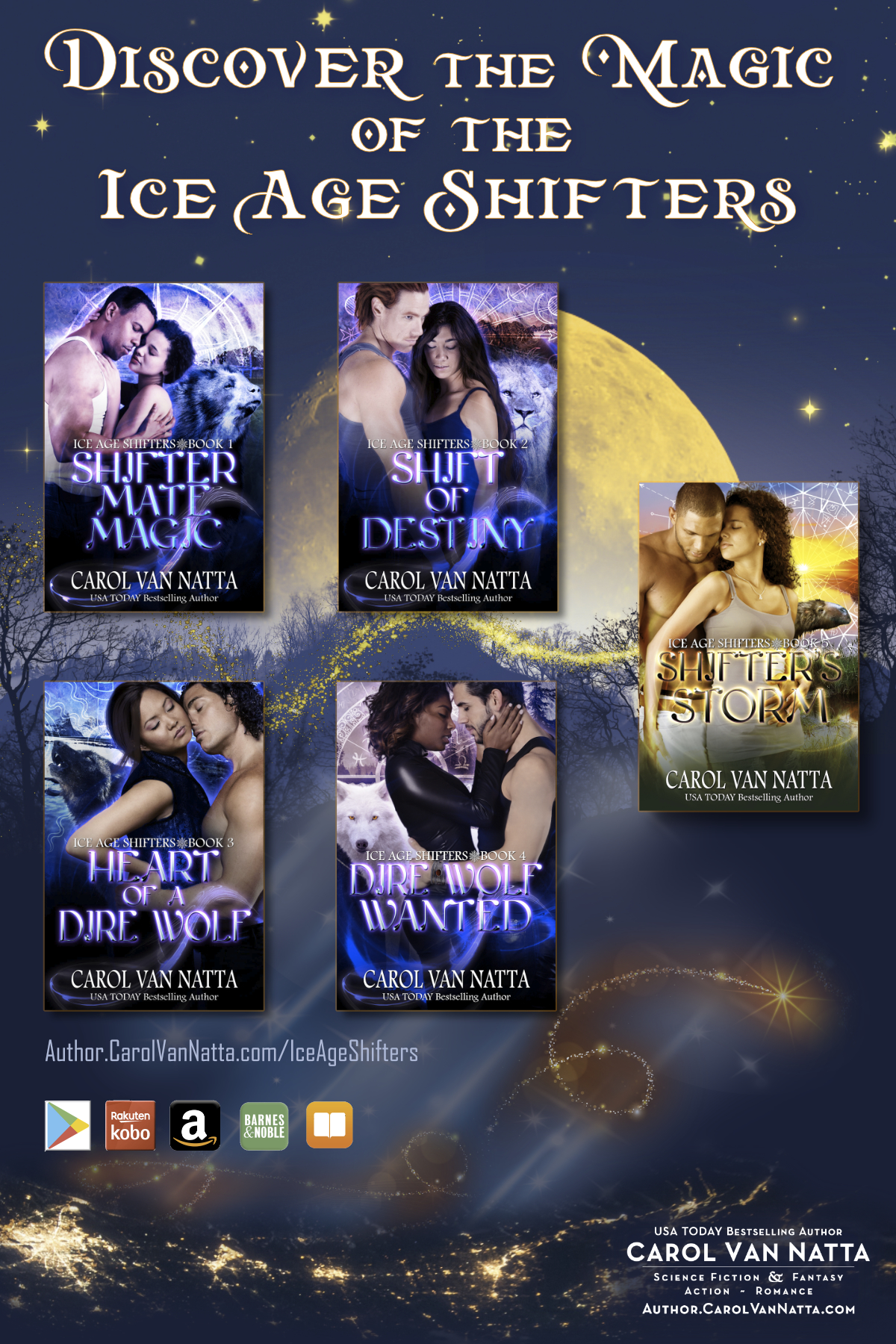 Discover the magic of the Ice Age Shifters series of paranormal romances