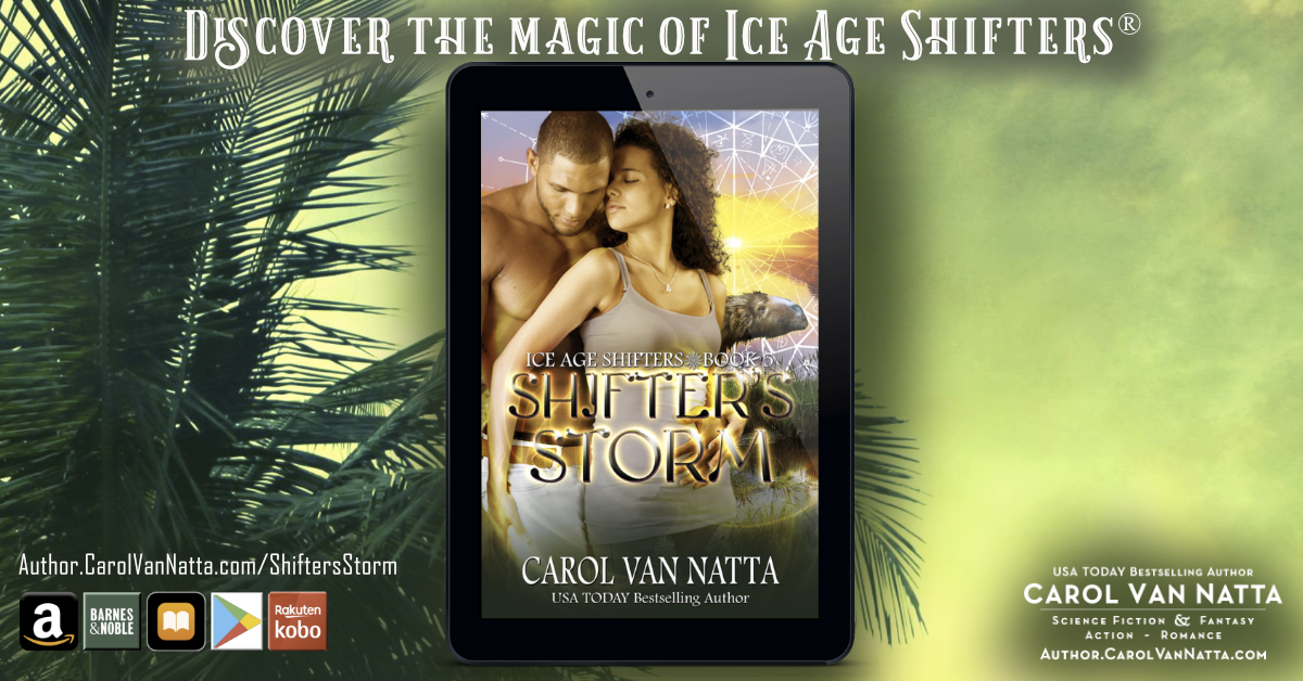 Shifters Storm cover on a background of a palm tree and green skies