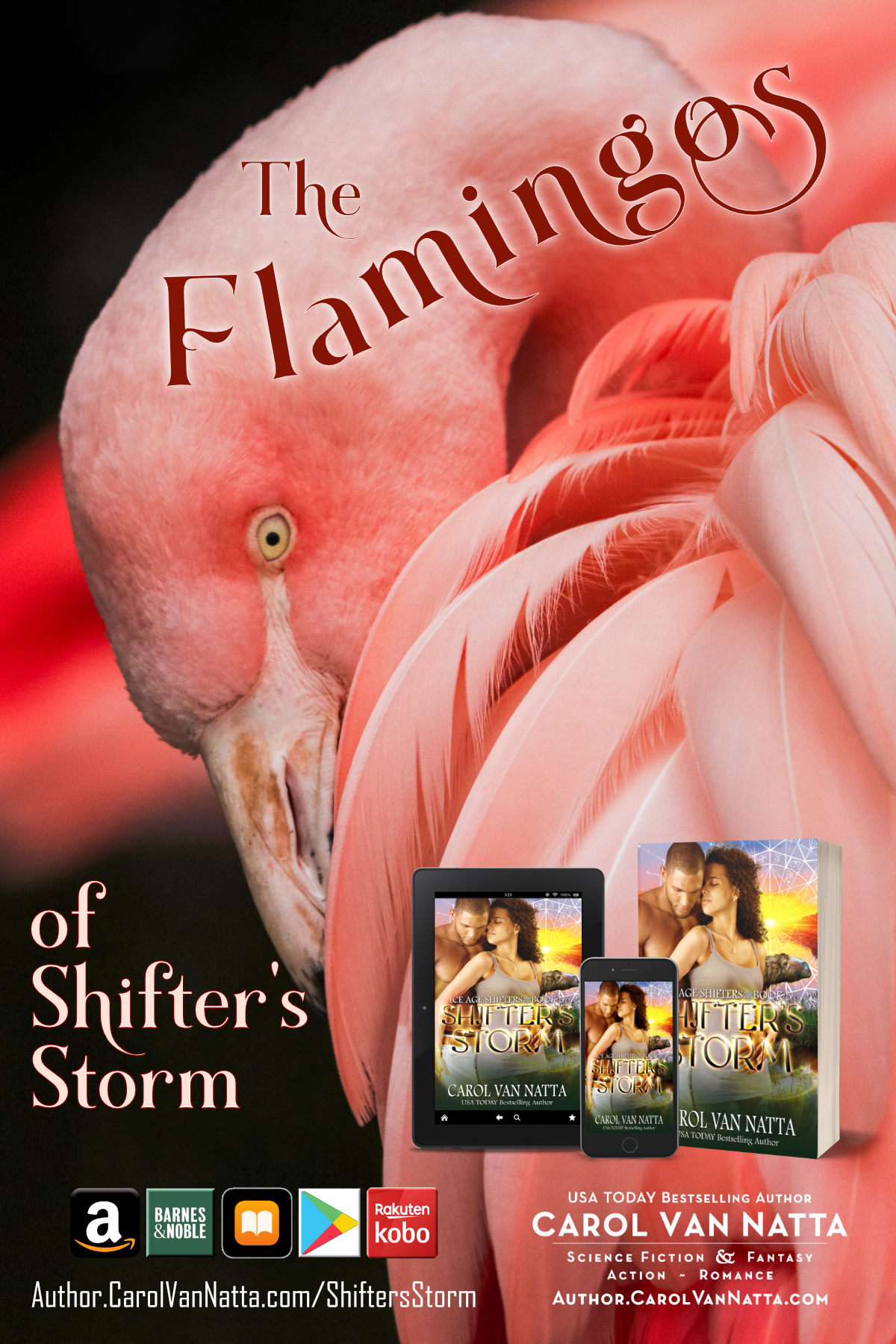 Shifters Storm stars a leopard, a sloth, and delightful flamingos