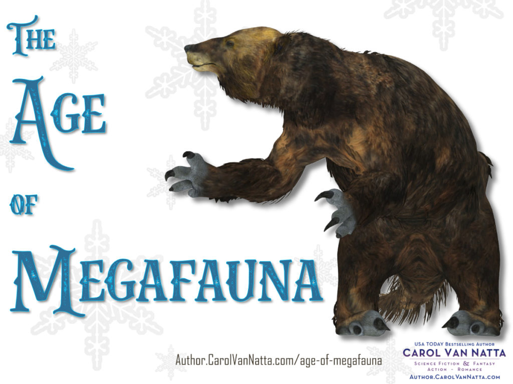 The Age of Megafauna, with an illustration of a prehistoric giant sloth