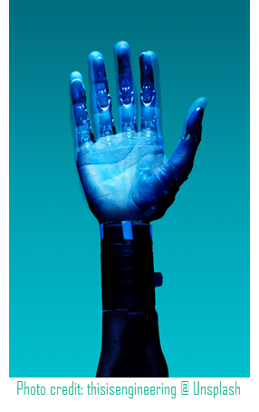 when fiction becomes real life - photo of a prosthetic hand