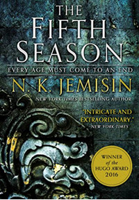 The Fifth Season by N.K. Jemisin who is an author of color who writes scifi