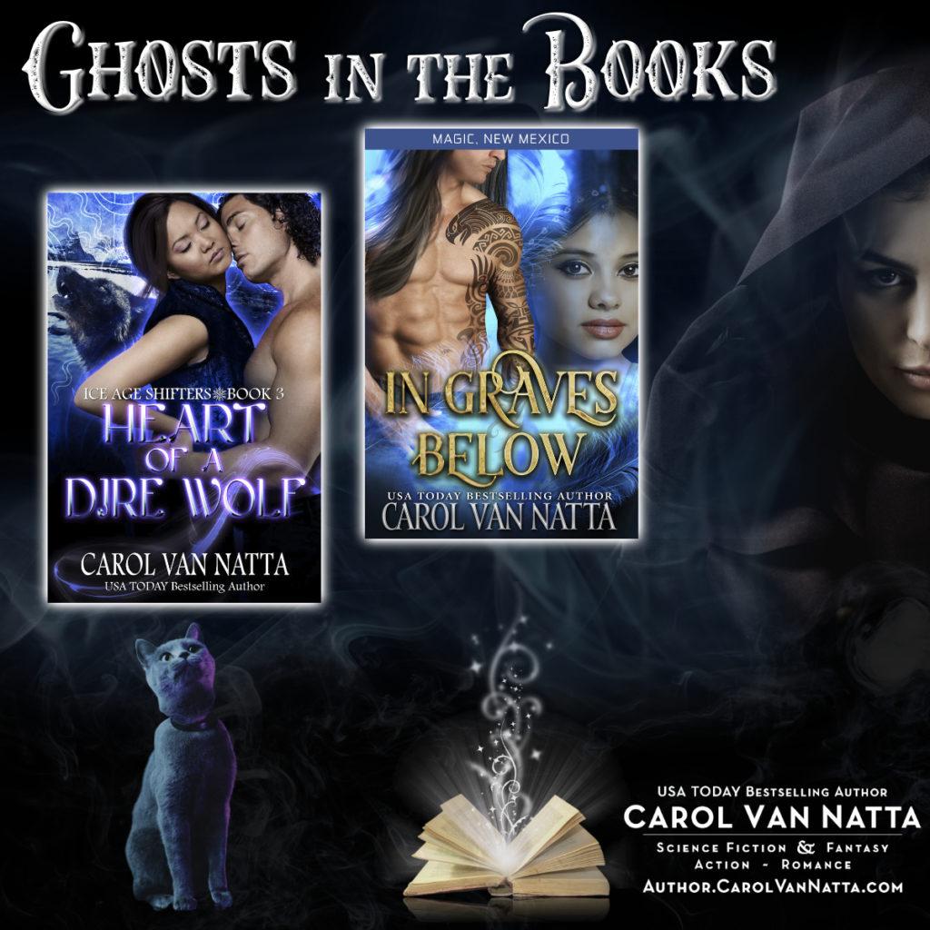 Carol Van Natta's paranormal romance books have ghosts