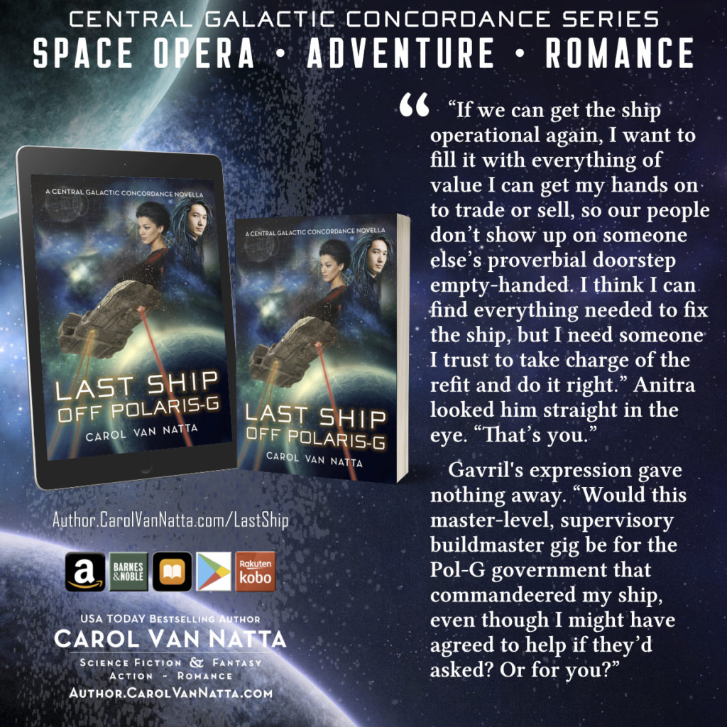 Cover image and quote from Last Ship Off Polaris-G