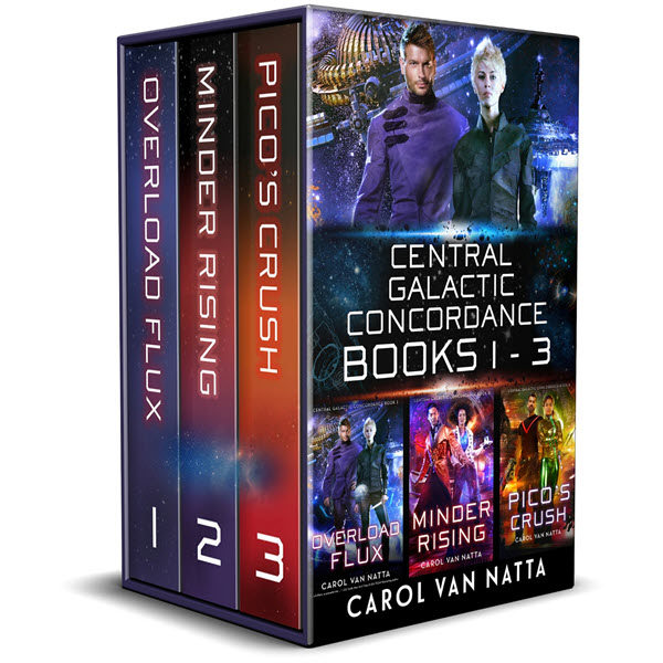 The first three books of the Central Galactic Concordance science fiction romance series