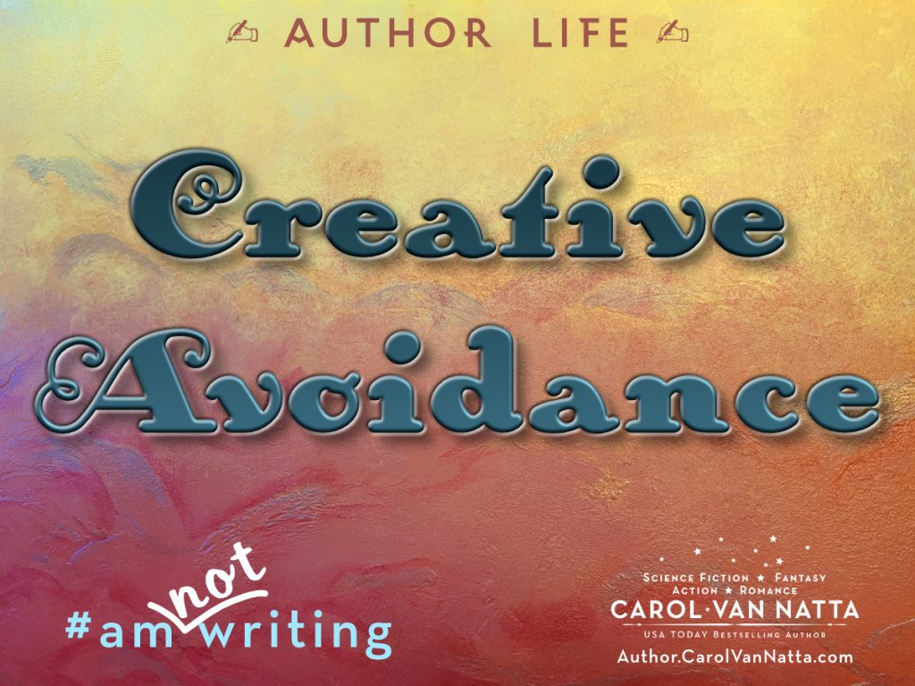 Creative Avoidance is part of the author's life