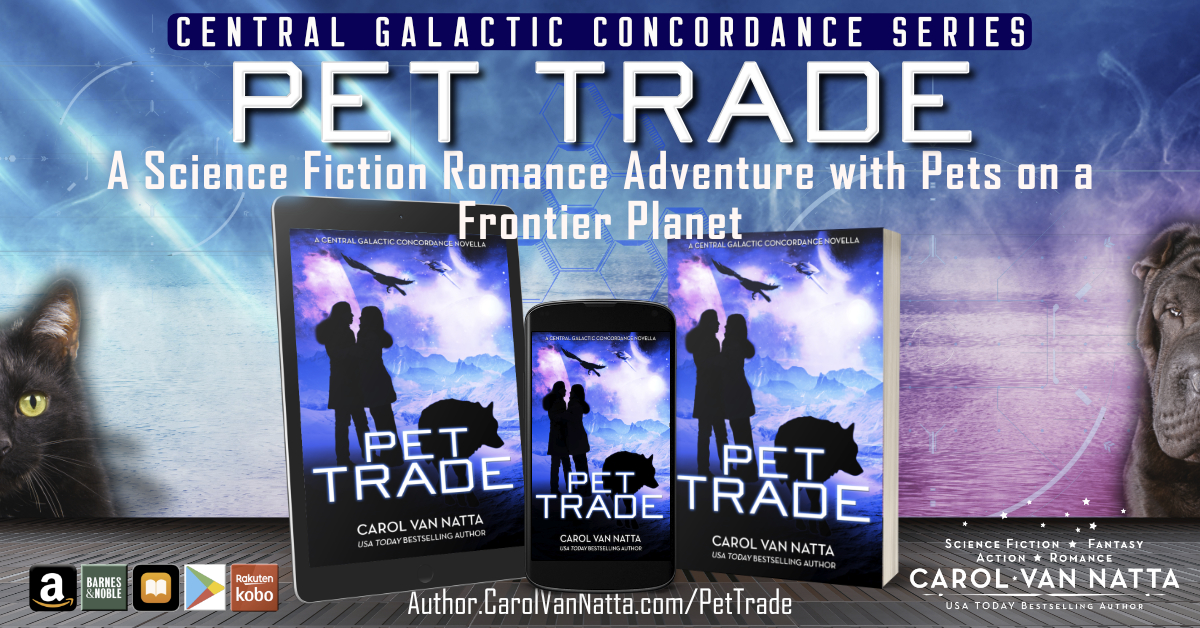 Spotlight on Pet Trade, a science fiction romance adventure with cyborgs and pets on a frontier planet