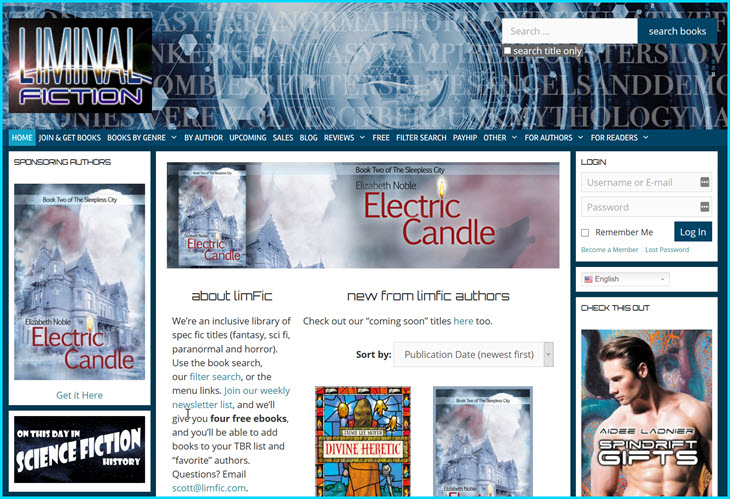 Liminal Fiction website helps find favorite genres