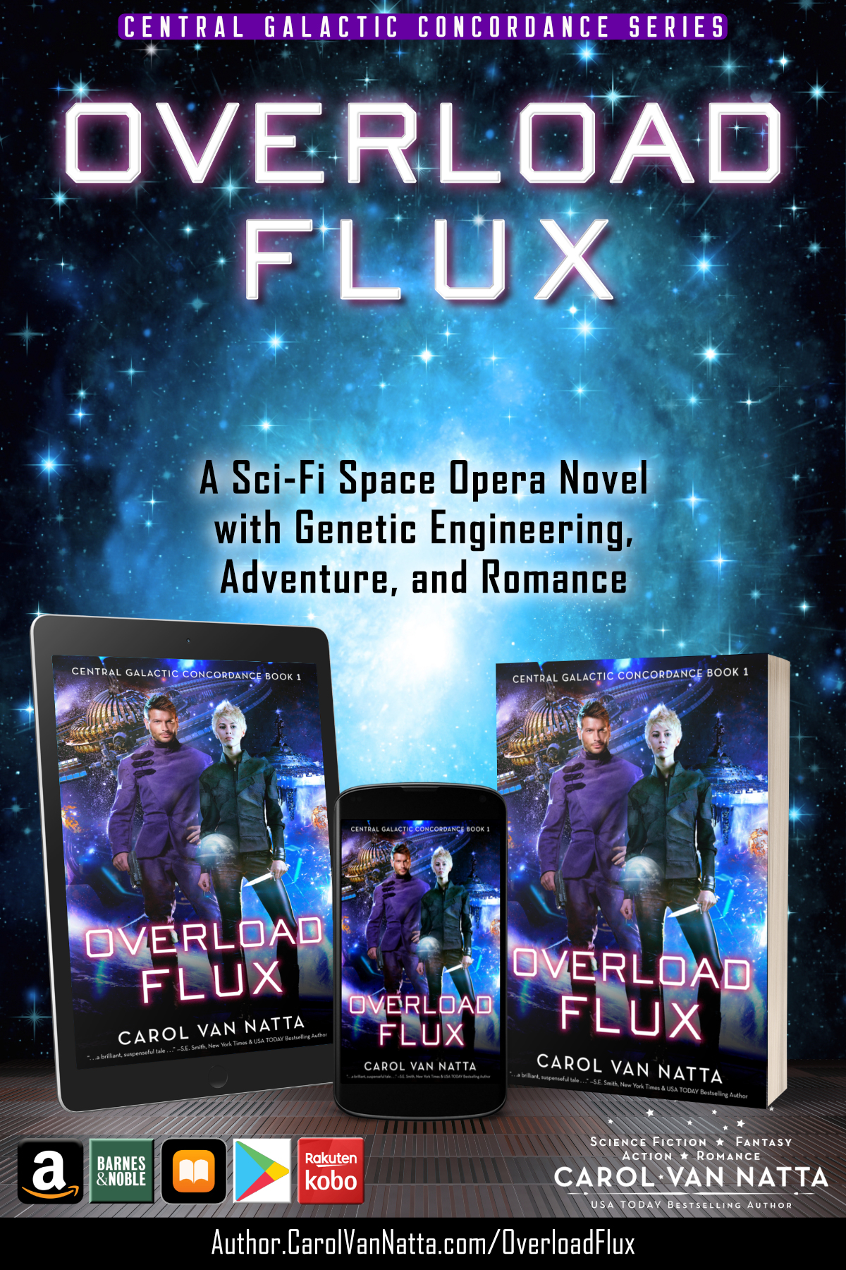 Spotlight on Overload Flux, a space opera romance