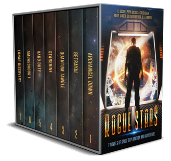 Photo of the Rogue Stars anthology that makes a great gift for scifi fans
