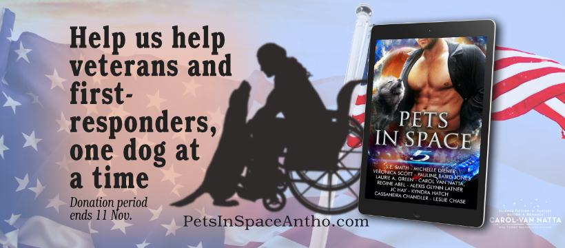 Help us help veterans and first-responders, one dog at a time. Buy Pets in Space 5.