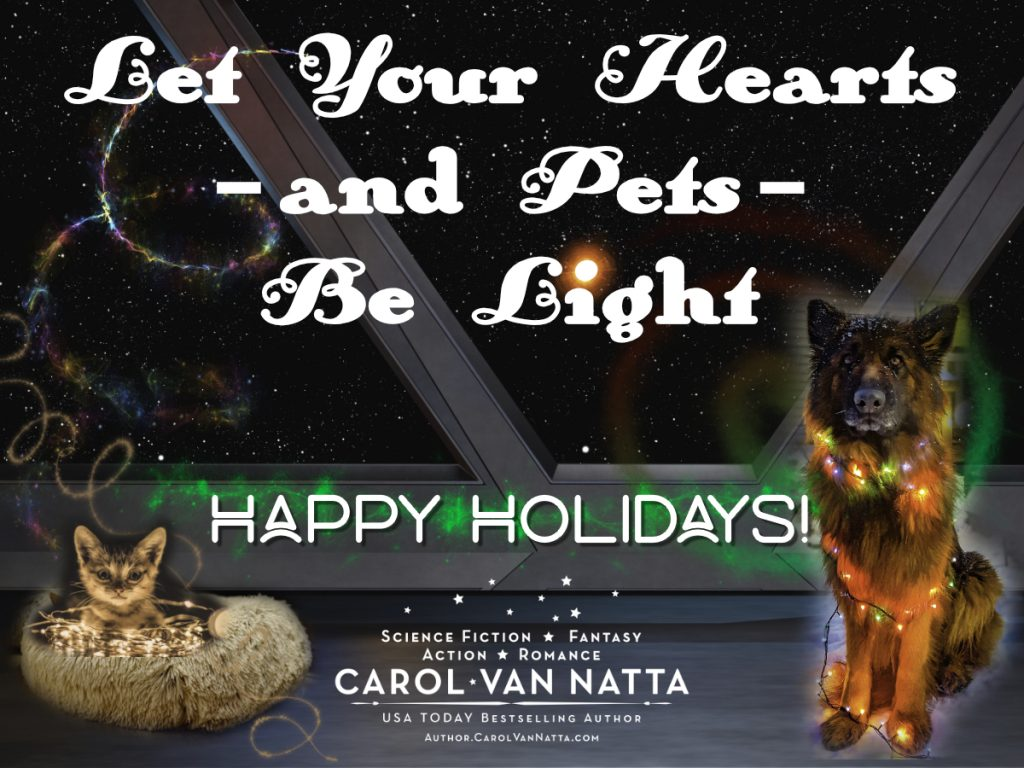 Let Your Hearts -- and pets -- be light. Here's wishing you hope for the holidays.