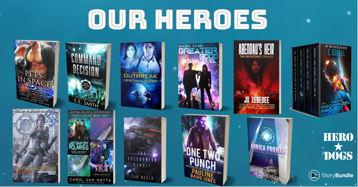 Hot deal on 4 great sci-fi books in the Our Heroes story bundle, plus bonus books