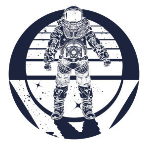 Illustration of a man wearing a spacesuit - meet the heroes of Nova Nine